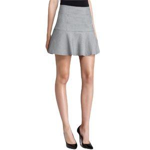 THEORY Gida Black/White Houndstooth Wool Blend Mini Skirt 8